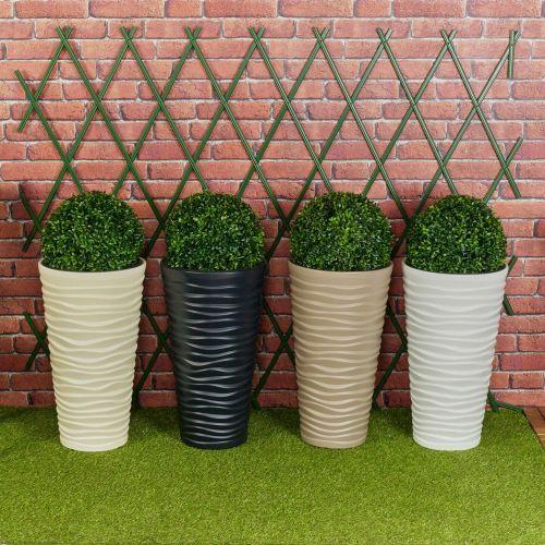 Decorative Garden Sand Buxus Ball Plant Pot Various Colours - 2 Type