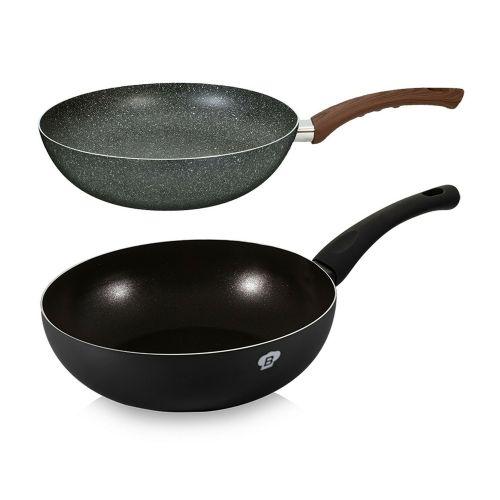 Aluminium Non Stick Frying Pan 28cm - Black and Grey