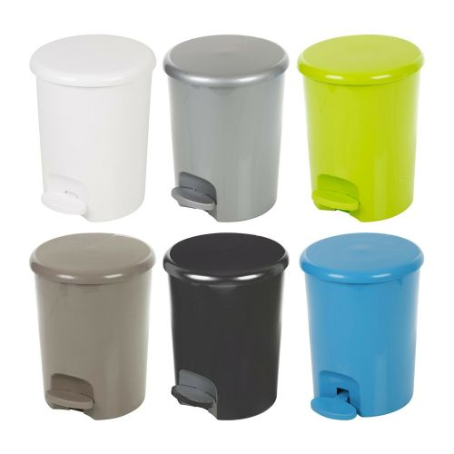 Pedal Operated Plastic Dustbin 5L - 8 Colours