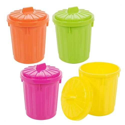 Colorful Plastic Lockable Small Recycle Waste Bin - 4 Colours