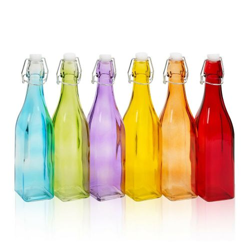 Elegant 6 Assorted Oil Bottle Metal Swing Lid - 500ml