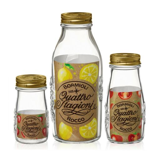 Bormioli Rocco Airtight Screw Cap Glass Jar Storage - 3 Sizes