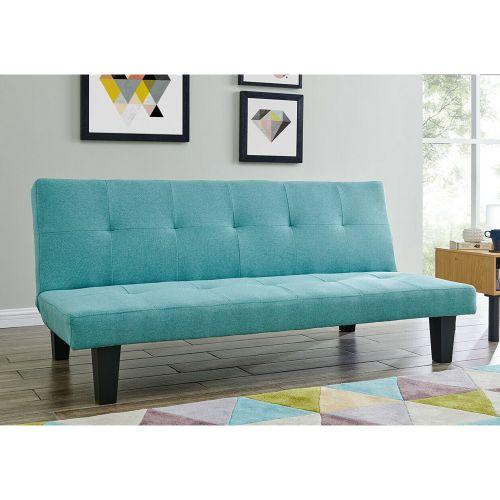 Elegant 3 Seater Sofa Bed - Teal Fabric