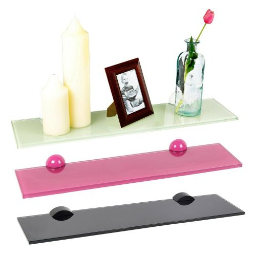 Colourful Glass Hanging Wall Racks Small and Large - 3 Colours