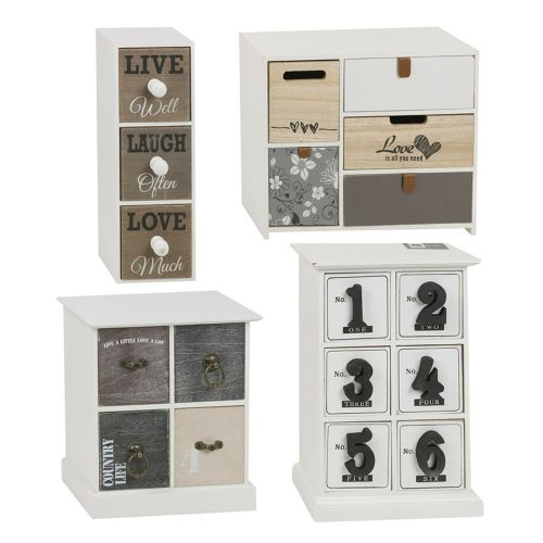 Vintage Wooden Mini Drawers Storage Cabinets - 3to6 Sizes