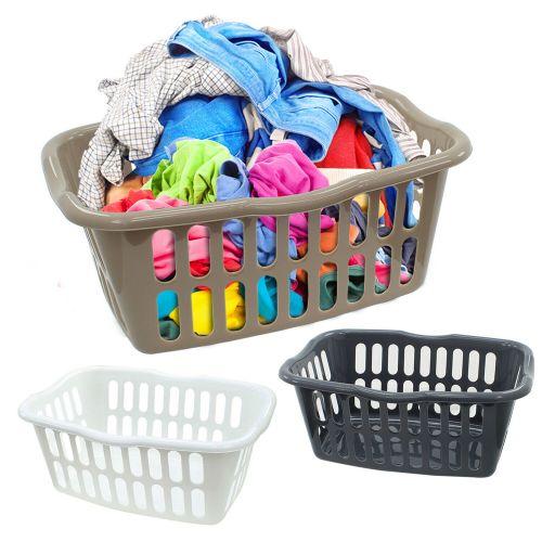 Plastic Hipster 40L Laundry Basket - 3 Colours