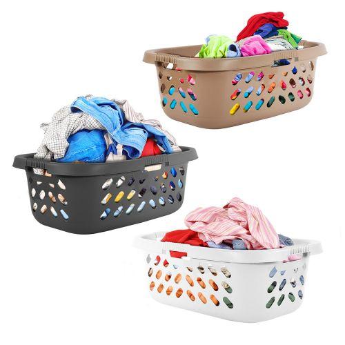 Plastic Hipster Laundry Basket 50L - 3 Colours