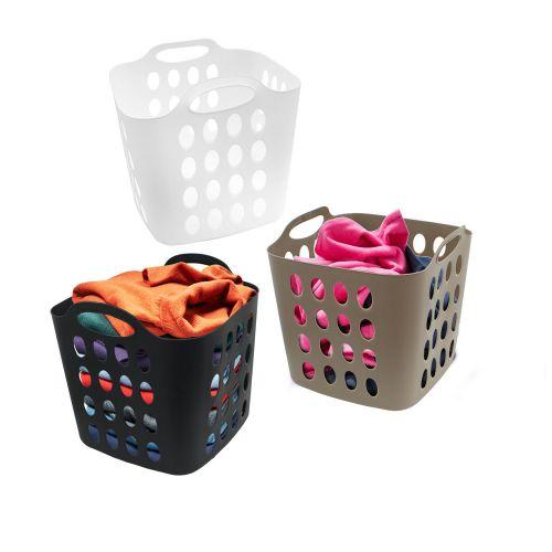 Plastic Hamper 35Litre Laundry Basket - 3 Colours