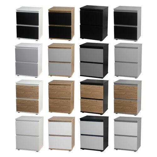 Skagen Wooden 2 Drawer Bedside Table - Various Colours