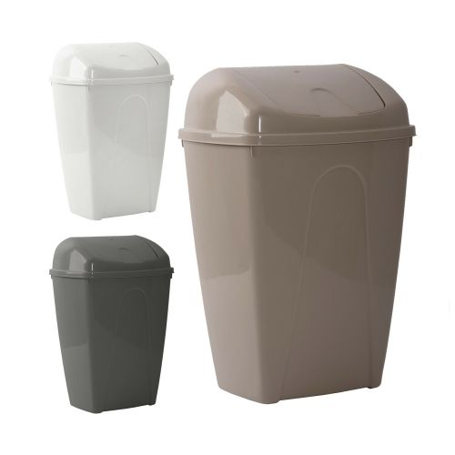 Swing Bullet Plastic Dustbin 25Litre - 3 Colours