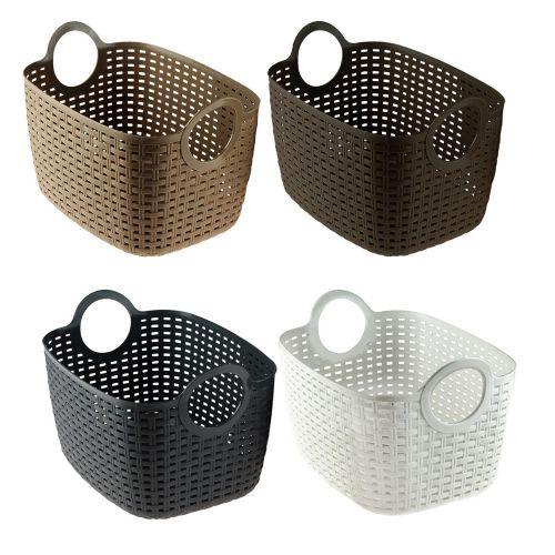 Flexi Plastic Trug Laundry Basket - 4 Colours