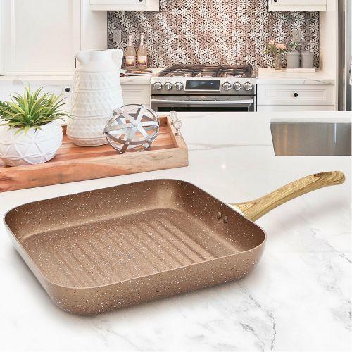 Elegant Square Non Stick Grill Fry Pan - 28cm