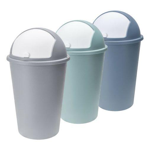 Bullet Roller Plastic Dustbin 50L - 3 Colours