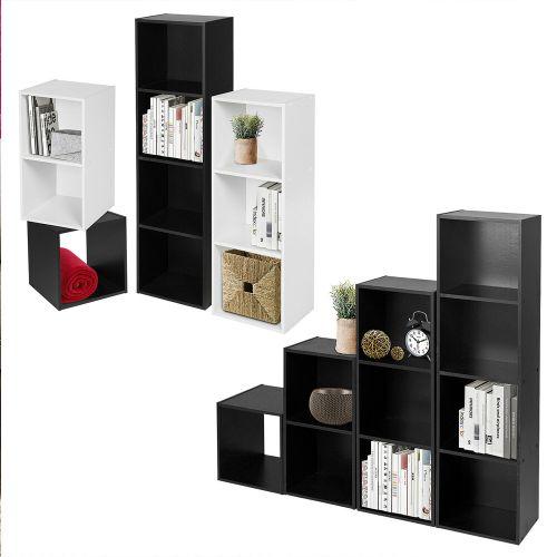 Elegant Wooden 1-4 Tier Bookcase Shelves - 2 Colours