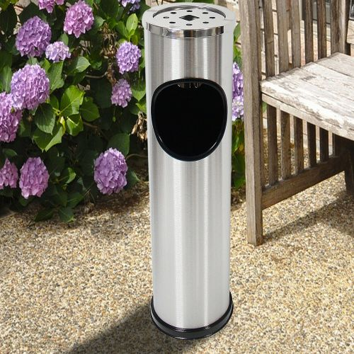 Stainless Steel Standing Ash Dustbin