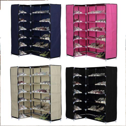 Elegant 6 Shelf Corner Shoe Rack - 4 Colours