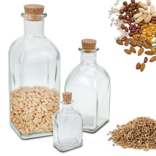 Vials Cork Lid Storage Jars 3 to 12 - 3 Sizes