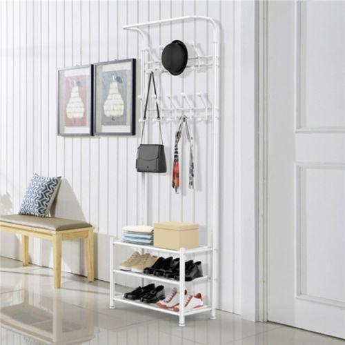 Elegant 3 - Tier Shelf Metal Coat Hanger - 2 Colours