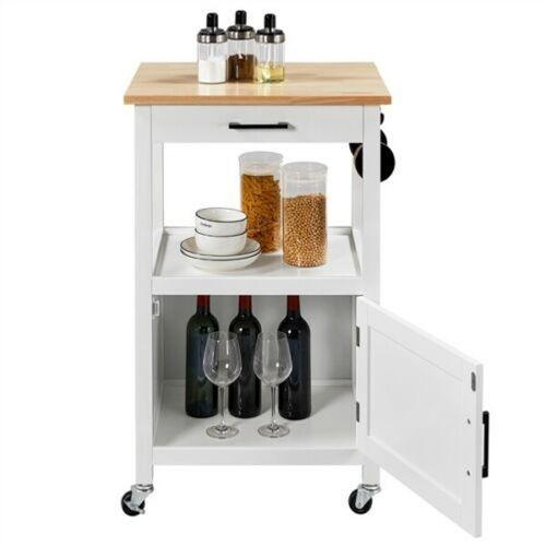Modern Trolley Kitchen Storage - White