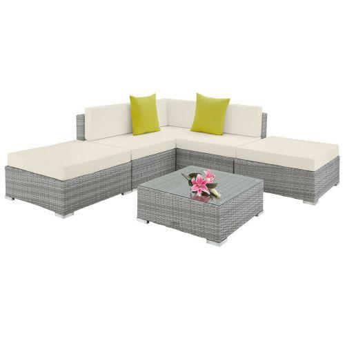 Luxury Poly Rattan Furniture Lounge Sofa Set - 5 Colours
