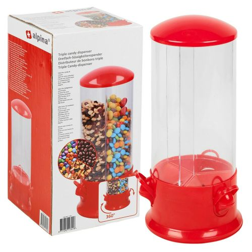 Alpina Nuts Cereal Candy Dispenser Sweet Jar - 360Rotate