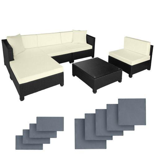 Garden Furniture Poly Rattan Sofa Set - 4 Colours