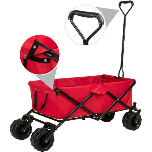 Garden Foldable Trailer - Red Colour