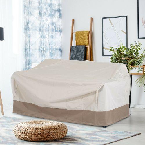 3 Seater Garden Sofa Cover - Beige/Coffee