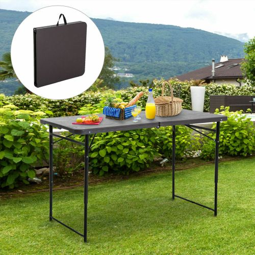 Metal Foldable Garden Table 4FT - Brown