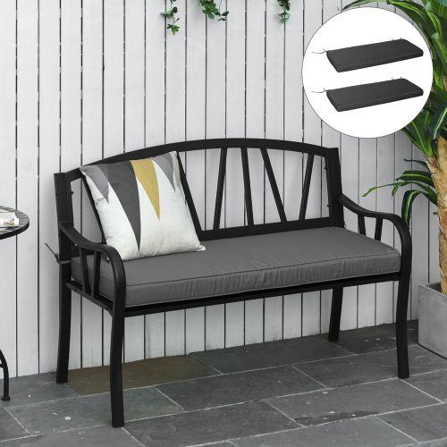 2 Seater Garden Cushion Seat - Grey