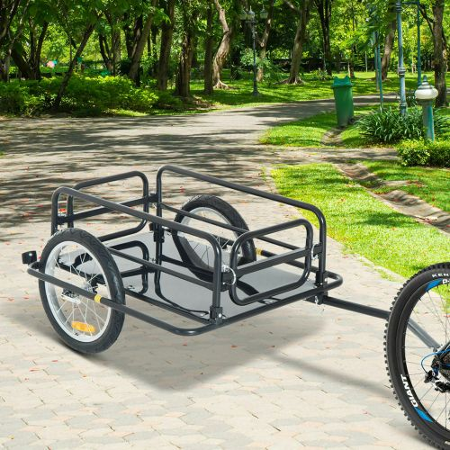 Folding Bicycle Storage Cargo Trailer