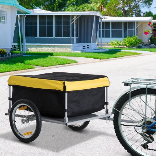 Bicycle Carrier Cargo Trailer - Yellow/Black