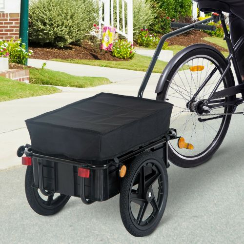 Bicycle Cargo Trailer Cart With Rain Cover 70L