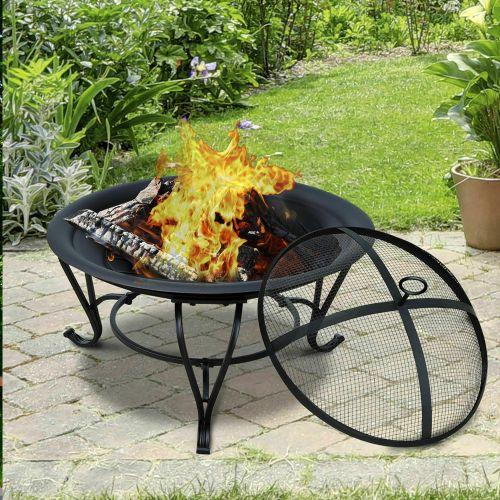 Brazier Wood Log Fire Pit - Black