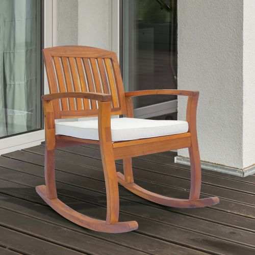 Elegant Wooden Garden Rocking Chair