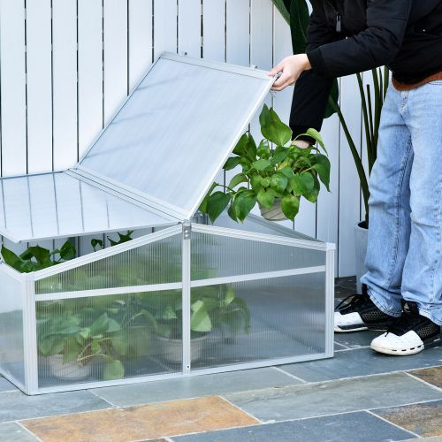 Aluminium Frame Cold Frame with Adjustable Roof
