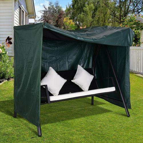 600D Oxford Garden Swing Furniture Cover - Deep Green