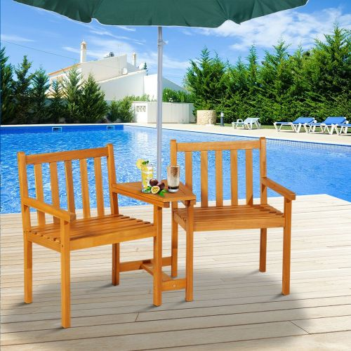 Companion Wooden Garden Chair With Table
