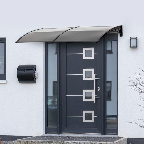 UV Resistant Door Canopy Black Colour - 200x80cm