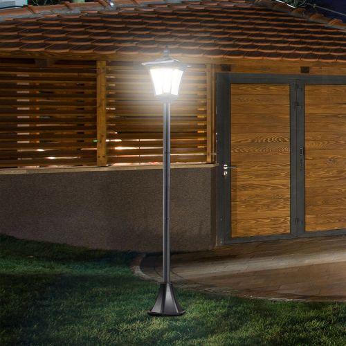 Dimmable Solar Light Garden Lamp Post