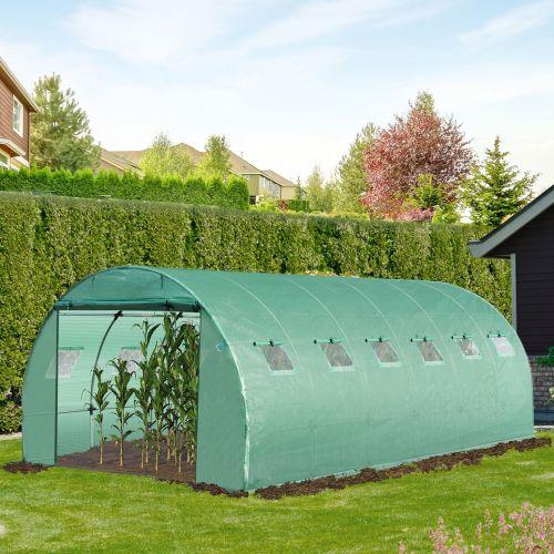Galvanized Greenhouse Polytunnel - 6Mx3M