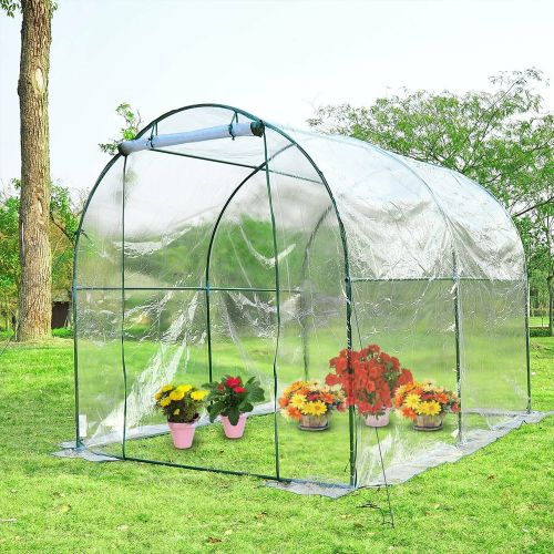 Steel Frame Transparent PVC Greenhouse Poly Tunnel