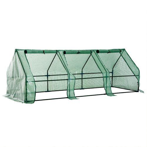 Steel Frame Steeple Polytunnel Greenhouse