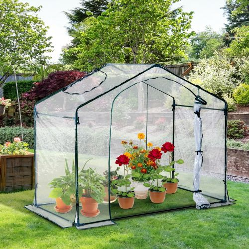 Portable PVC Poly Tunnel Greenhouse With Steel Frame - 1.8M