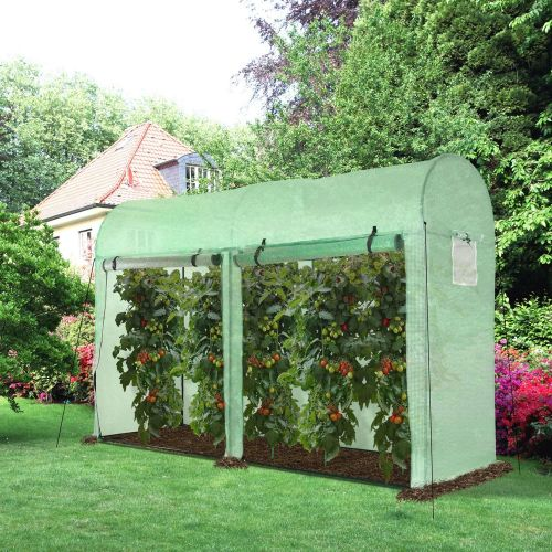 4 Windows Greenhouse Poly Tunnels With Double Doors - 3x1x 2M