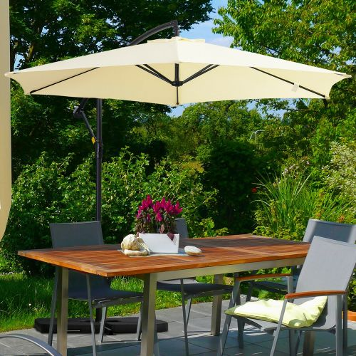Cantilever Parasol With Base And Cover 3M - Beige