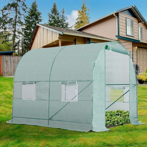 Galvanized Frame Dome Greenhouse Polytunnel - 2.5M/2M