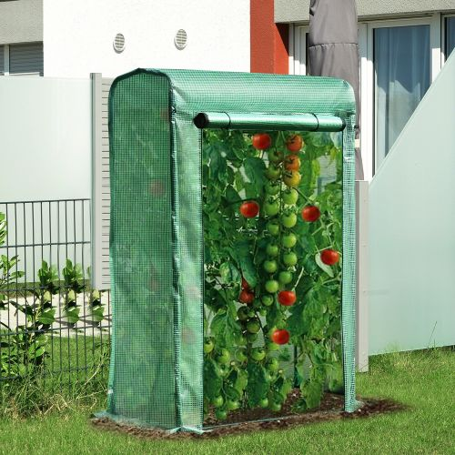 Metal Frame PVC Greenhouse Polytunnel With Zipper