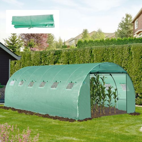 PVC Replacement Greenhouse Polytunnel - 2x6x3M