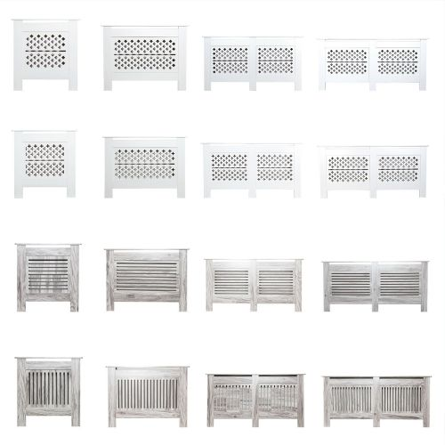 Modern Radiator Wall Cabinet Cover - Grey and White